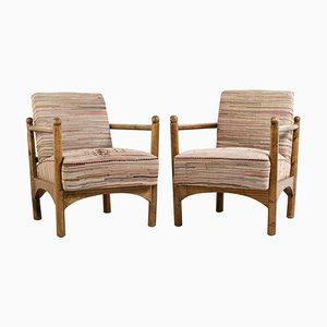 Swedish Grace Armchairs, Early 20th Century, Set of 2