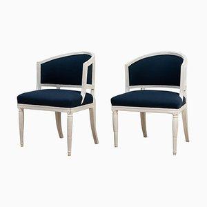 19th Century Swedish Barrel Back Chairs, Set of 2
