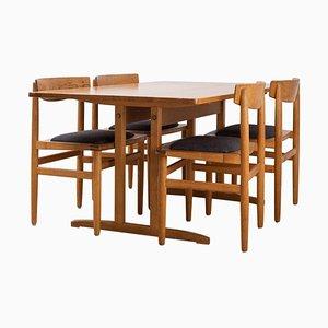 Esszimmer Set im Shaker Stil von Börje Mogensen für Karl Andersson & Söner, 1950er, 5er Set