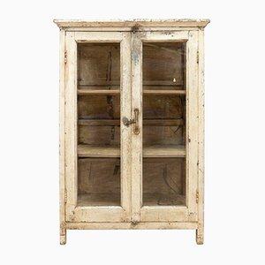 19th-Century Antique French Oak Glazed Cabinet