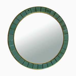 Round Wall Mirror from Cristal Art, Italy, 1950s