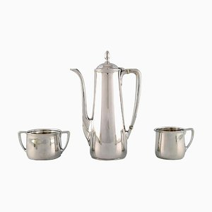 Coffee Service Set in Sterling Silver from Tiffany & Company, New York, Early 20th-Century, Set of 3