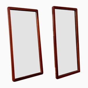 Mid-Century Teak Overmantel Mirrors, Set of 2