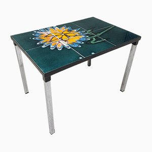 Mid-Century Abstract Tile Side Table from Adri