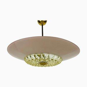 Mid-Century Glass Pendant Lamp in the Style of Boris Lacroix, 1960s
