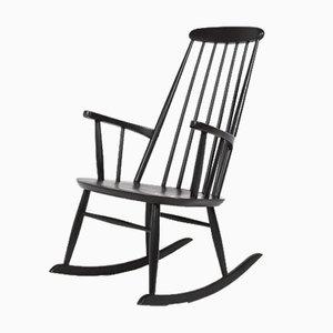 Swedish Modern Rocking Chair in Black Ash