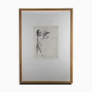Leo Guida, Vola, Original Etching and Drypoint on Paper, 1972