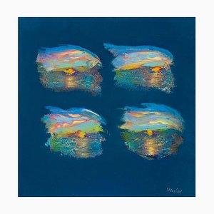 Franco Mulas, Sonnenstrahlen, Original Ölgemälde, 2013