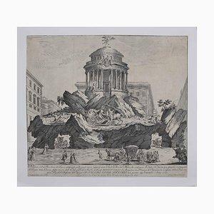 Giuseppe Vasi, The Temple of Glory, Original Etching, Mid-18th-Century