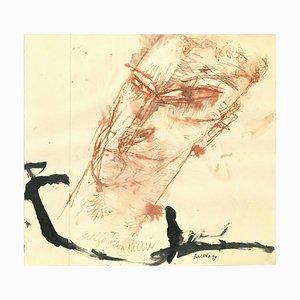 Sergio Barletta, Porträt von Guelfo Bianchini, Original Zeichnung, 1959