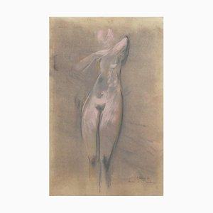 Unknown, Nude, Original Pastel Drawing, 1962