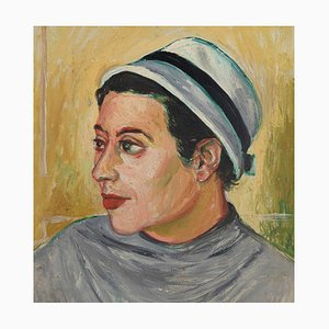 Peinture Guérison sur Toile par Leo Guida, Portrait of a Girl, 1970s