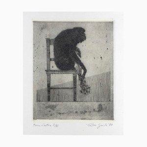 Leo Guida, Allegorie, Original Radierung und Aquatinta auf Papier, 1970er