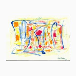 Giorgio Lo Fermo, Colored Composition, Gouache and Watercolor, 2020