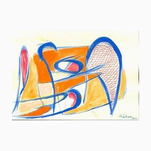 Giorgio Lo Fermo, Blue Lines, Mixed Media, 2020
