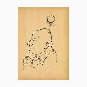 George Grosz, Grim Man, Original Offset and Lithograph, 1923