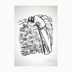 Pietro Morando, Desperate Original Lithographie, 1950er