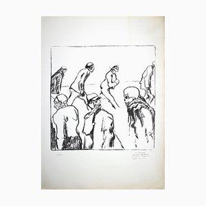 Pietro Morando, Tragedy of Hunger, Original Lithograph, 1950s