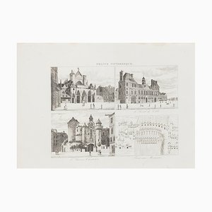 French Palaces, Original Lithograph, 19th Century
