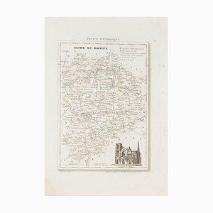 Seine et Marne, Original Lithographie, 19. Jahrhundert