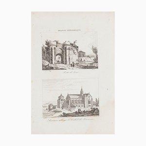 Porte De Sens, Original Lithograph, 19th Century