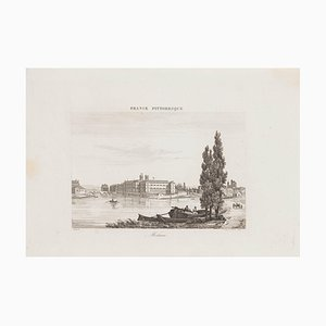 Melun, Original Etching, 19th Century