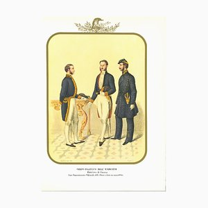 Antonio Zezon, Political Corps of the Army, Original Lithograph, 1850s