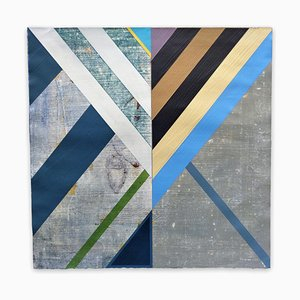 Organic Geometry (Sea Flags), Abstract Painting, 2020