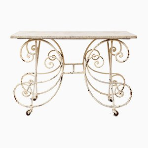 White Marble Garden Table, 1930s