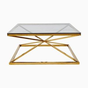 Brass Star Framed Coffee Table