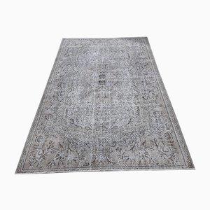 Handgeknüpfter Türkischer Vintage Area Teppich aus Wollteppich
