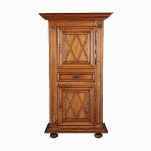 Single-Door Walnut Cabinet, France, 1700s