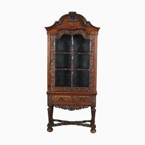 Antique Baroque Narrow & Wide Cabinet in Oak