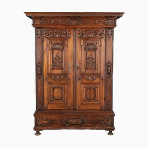 Early Baroque or Late Renaissance Cabinet in Softwood