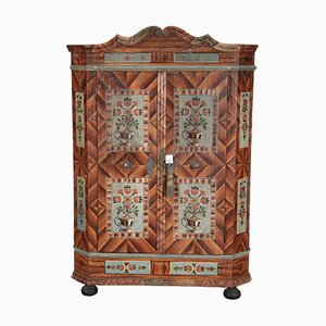 Baroque Beveled Fire Cabinet, 1830s