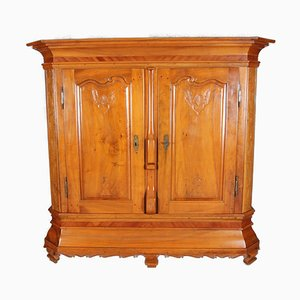 Baroque Cabinet in Solid Cherry with Carvings, 18th Century