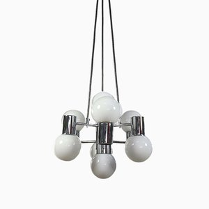 Mid-Century Chrome & Glass Pendant Lamp from Doria Leuchten