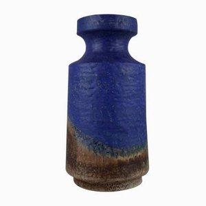 Blue Ceramic No. 7326 Vase by Fridegart Glatzle for Karlsruhe Majolika, 1960s