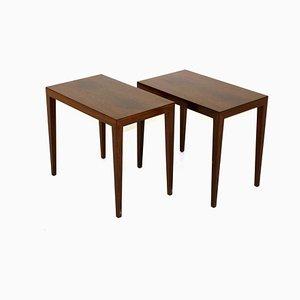 Rosewood Bedside Tables by Severin Hansen for Haslev Møbelsnedkeri, Denmark, 1960s, Set of 2