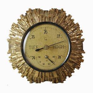 Vintage Golden Sunburst Barometer from Lufft, 1960er