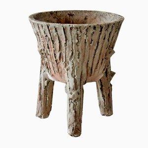 Tripod Faux Wood Planter