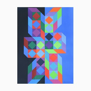 Olympic Games Poster by Victor Vasarely for Edition Olympia 1972 GmbH, 1970s