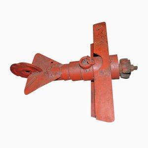 Vintage Industrial Metal Plane Toy, 1940s
