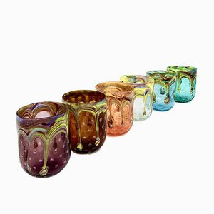Contemporary Handcrafted Flirt Murano Glasses, Italy, Set of 6