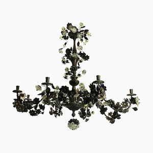 Bronzierter Floraler Kronleuchter, 1950er