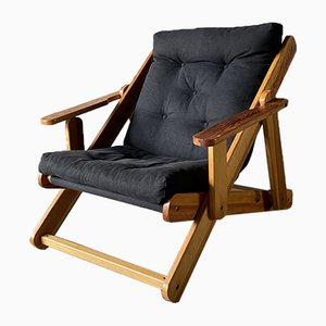 Scandinavian Reclining and Folding Armchair by Gillis Lundgren, 1970s