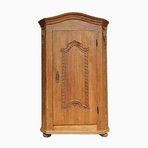 Softwood 1-Door Cabinet, 19th Century