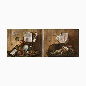 Trompe L'Oeil Nature Morte Barocche, 1700, Set of 2