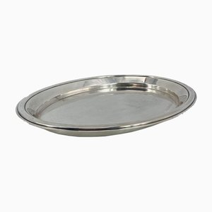French Art Deco Silver-Plated Tray from Christofle