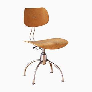 Sedia girevole regolabile nello stile di Egon Eiermann di Wilde & Spieth, anni '50
